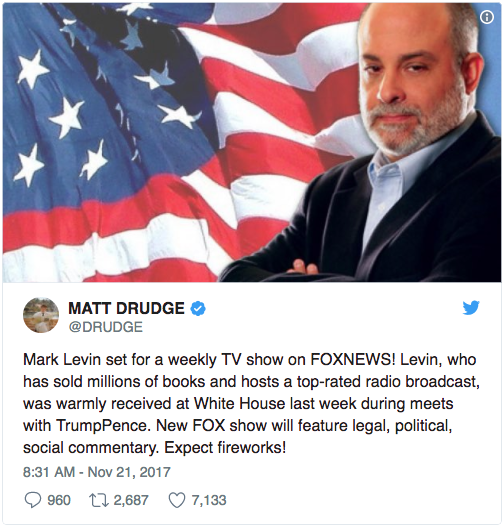 Confirmed: Mark Levin Gets His Own Show On Fox News