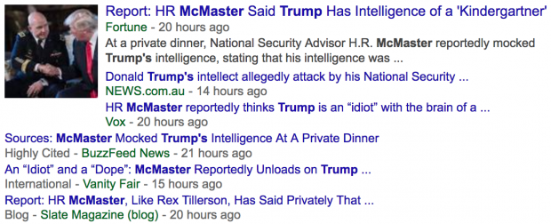 'McMaster Trashed Trump at Private Dinner' - MSM 'Breaks' Story Infowars Broke Months Ago