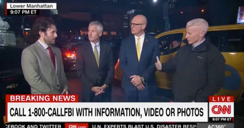 'CNN is ISIS': Anderson Cooper Broadcast Interrupted by Man Chanting 'fake news'