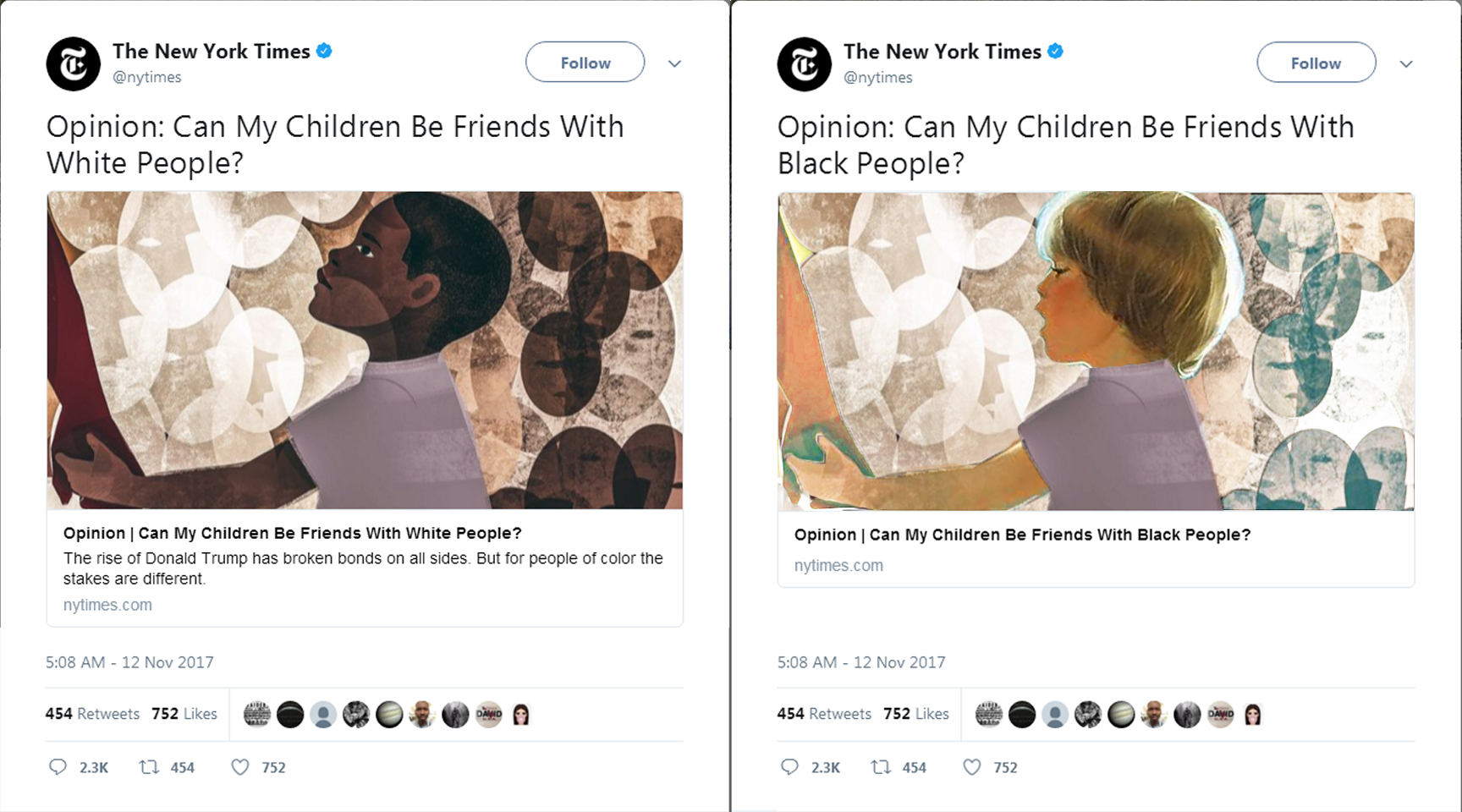 NY Times Op-Ed: 'Can My Children Be Friends With White People?'