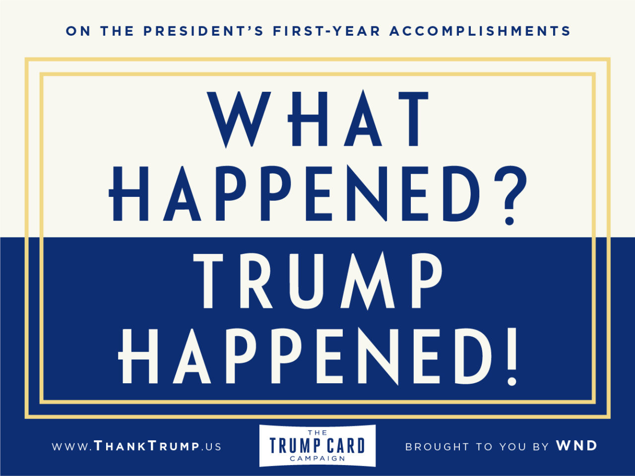 'Thank Trump Card Campaign' Shows Gratitude One Year Into Presidency