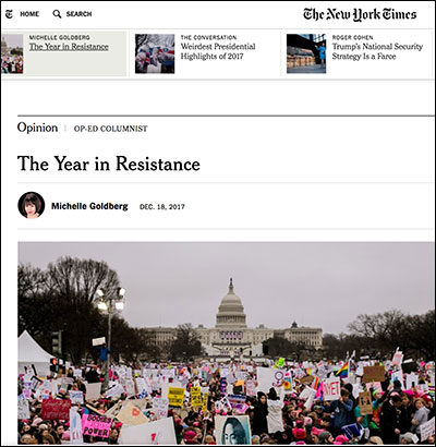 """NYT Clings to Hope Leftist """"Resistance"""" Will Bring Down Trump"""