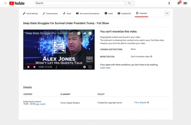 YouTube Targets Infowars Video for Featuring Alex Jones