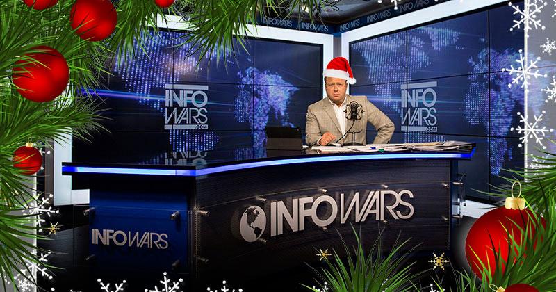Elves Invade Infowars Command Center!