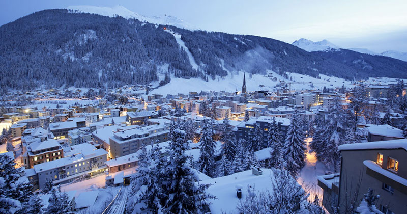 Davos Elite Discuss Global Warming -- While Snowed In!