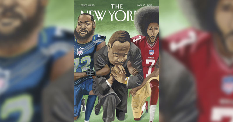 Martin Luther King, Jr. Takes Knee On New Yorker Cover
