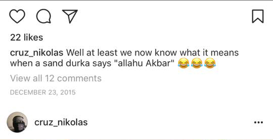 """Reported Florida Shooter Discussed """"Allahu Akbar"""" on Instagram Profile"""