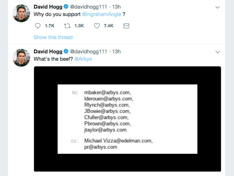 Will Twitter Suspend David Hogg For Doxxing Corporate Execs?