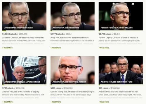 McCabe Bailout: Dems Launch Dozens of GoFundMe Campaigns