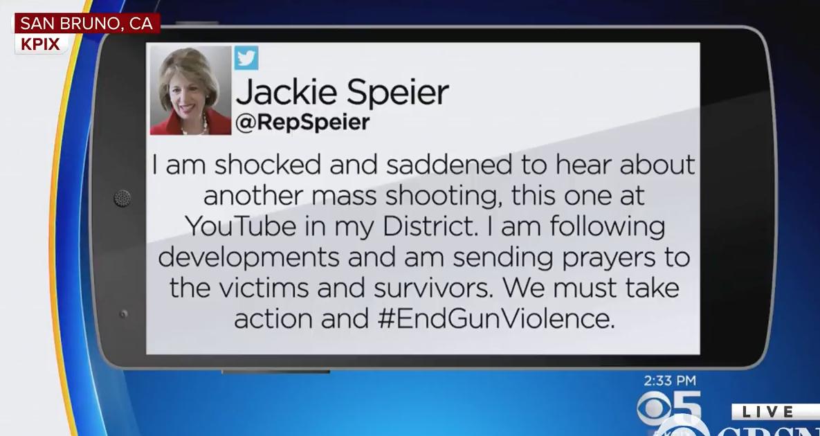 Pelosi, Libs Immediately Politicize Youtube Shooting to Push Gun Control