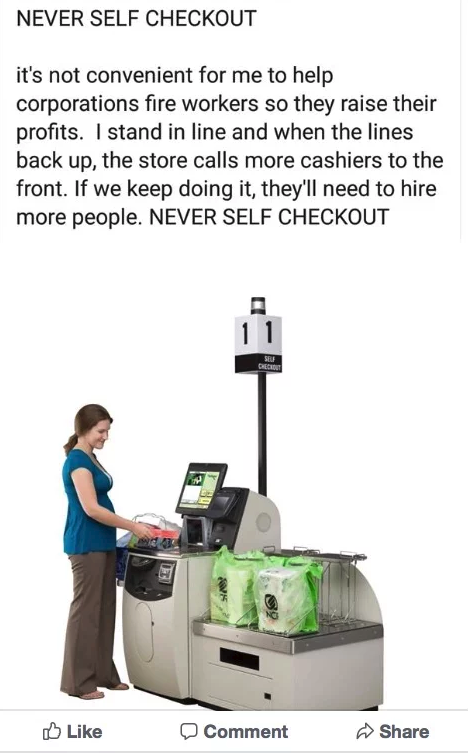 Fight For $15 Crowd Slams Self-Checkout Machines Replacing Workers
