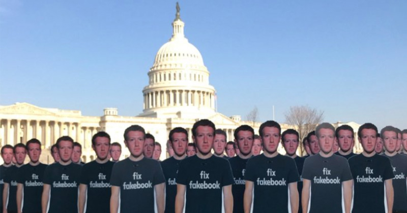 Group Protests Facebook with Zuckerberg 'Troll Army' in D.C.