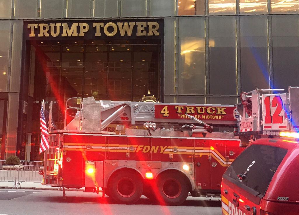 Breaking: Trump Tower's 50th Floor on Fire