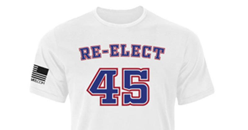 'Re-Elect 45' Shirts Made in Response to Walmart 'Impeach 45' Gear