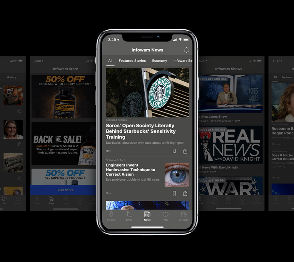 Get it NOW: FREE Infowars Official Mobile App Launched!