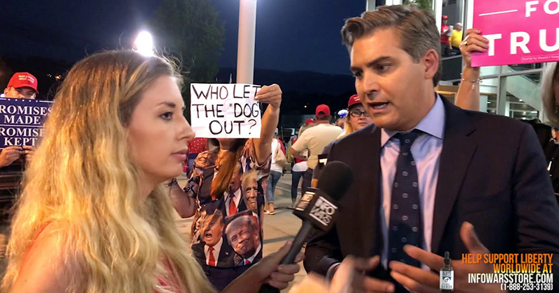 Infowars Confronts Fake News King Jim Acosta Over Censorship