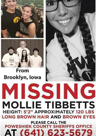 Illegal Alien Charged in Murder of Missing Iowa Woman Mollie Tibbetts