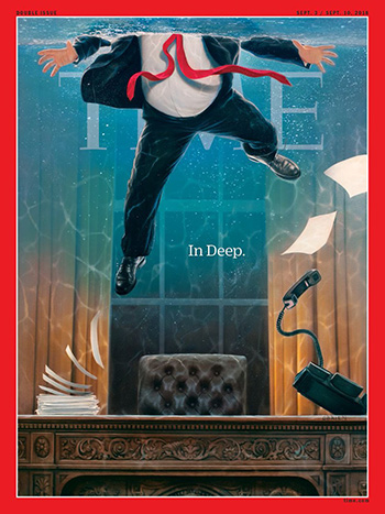 Scott Adams on Time Mag 'Drowning Trump' Cover: Critics See Things that Don't Exist