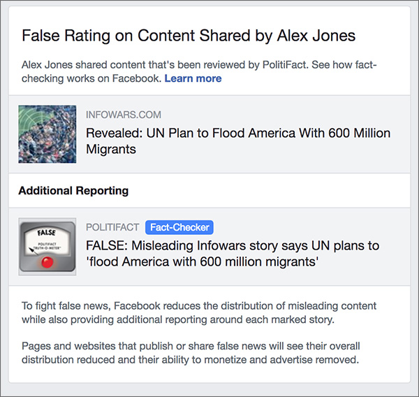 Fake News Fail: Facebook Flags Accurate Infowars Story Citing UN Docs