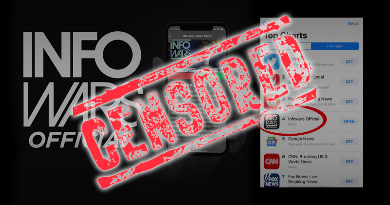 Breaking: Apple Quietly Removes Infowars Official App