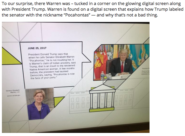 Elizabeth Warren Featured At American Indian Museum