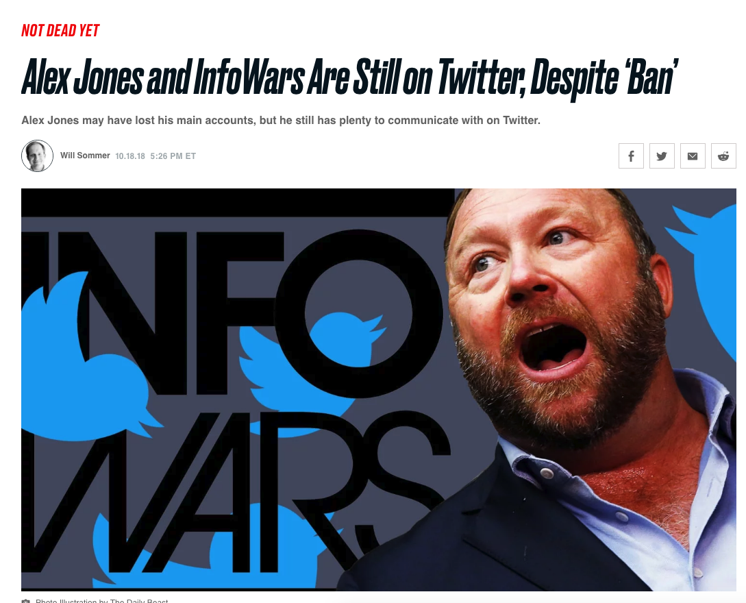 Twitter Goes Nuclear, Bans 18 Infowars-Linked Accounts - Watch The Forbidden Content Here