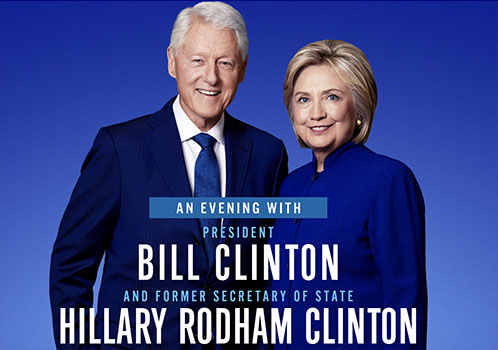 Oblivious: Bill & Hillary Clinton Readying Nationwide Stadium Tour