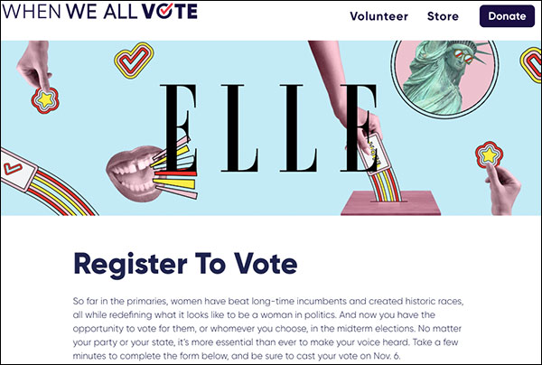 Elle Magazine Uses Fake 'Kanye-Kim Split Up' Tweet to Register Voters