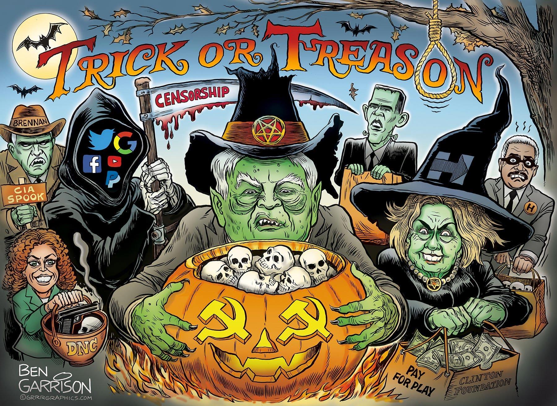 Trick or Treason: Satanic Globalists Perform Unholy Ritual, In New Ben Garrison Cartoon