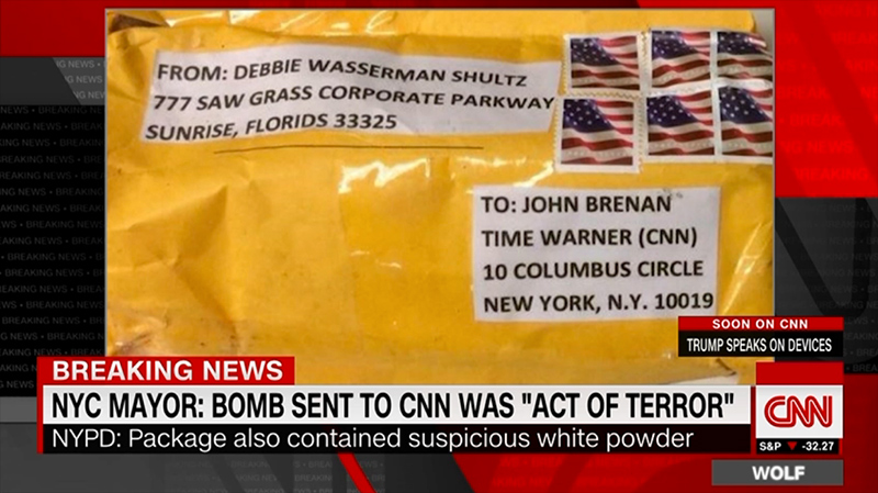 ISIS Flag? Markings on Bomb Mailed to Brennan Appear to Be Jihadi Sticker