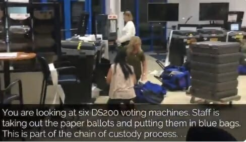 MUST-SEE VIDEO: Broward County Elections Officials Block View as Ballots are Bundled and Bagged in Davie, Florida Voting Center