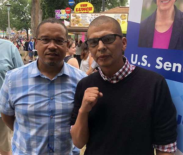 Keith Ellison Pictured With Portland ANTIFA Leader At Minnesota State Fair