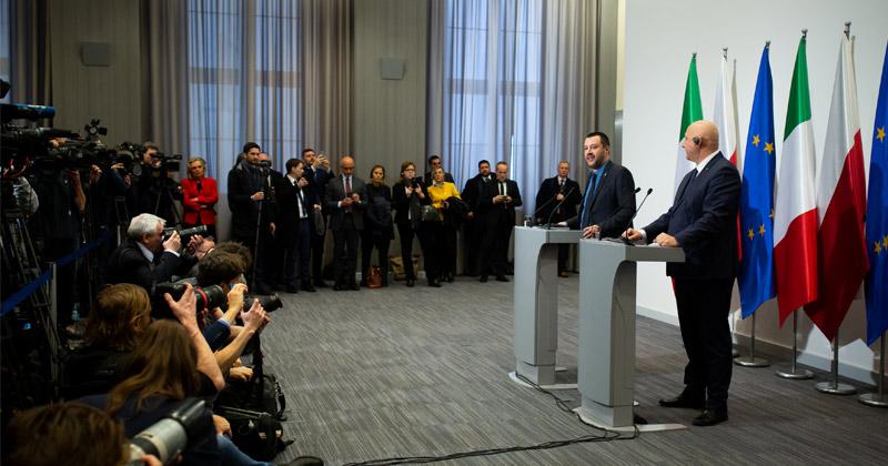 "Italy's Salvini Visits Poland To Discuss ""Eurosceptic Alliance"""