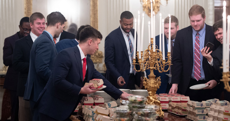 TV Host Tries to Upstage Trump by Offering Caviar to College Football Players