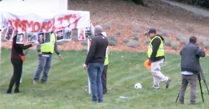 War Room: Illegal Immigrants Build Tent City In Nancy Pelosi's Lawn