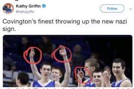 Kathy Griffin Deletes Tweet about Covington Teens 'throwing up the new nazi sign': Report