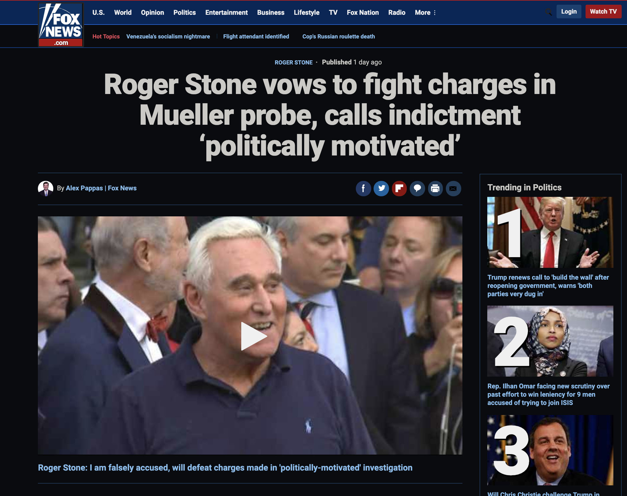 See All Roger Stone Exclusive Videos From Yesterday's Indictment HERE