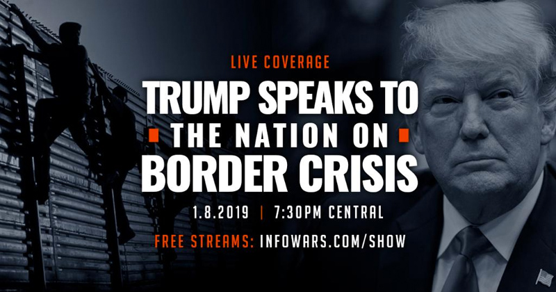 Watch Live Coverage: Trump Speaks To The Nation On Border Crisis