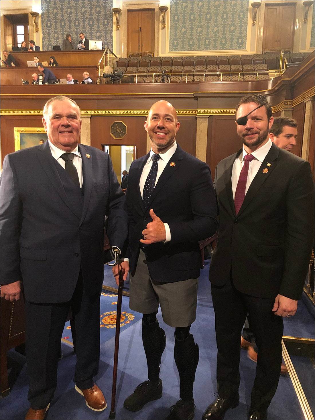Amazing Photo Shows Three Purple Heart Veterans Recently Elected to Congress