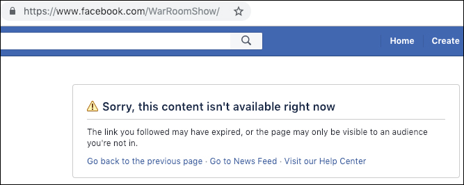 Tech Empire Strikes Back: Facebook Purges War Room, All Infowars Content