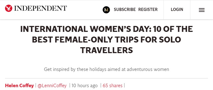Media Outlet Recommends Single Women Go Hiking Alone In Morocco