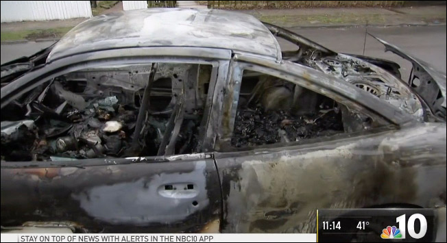 Woman Says Car Torched Due to Trump Cutout in Front Seat