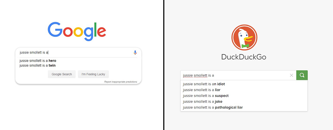 'Jussie Smollett is a hero': Google Improves Empire Actor Search Suggestions