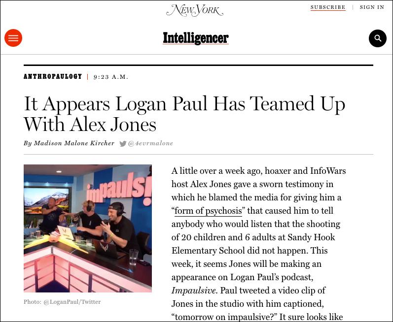 "Watch: Alex Jones Appears On Logan Paul's ""Impaulsive"" Podcast"