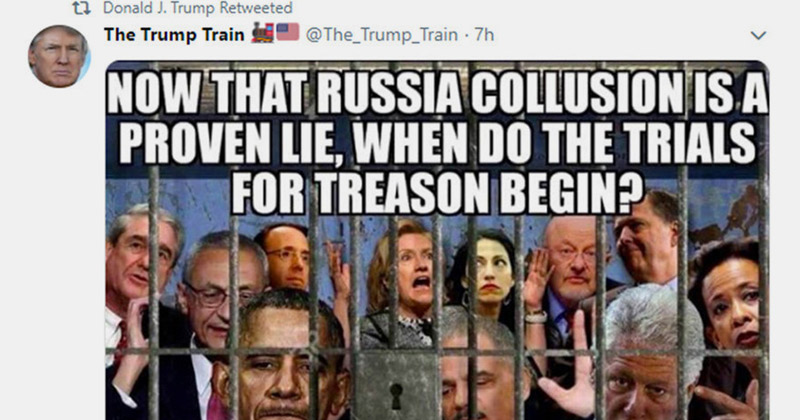 Flashback: Trump Asked When Trials for Treason Begin for Dems Involved in Russia Hoax