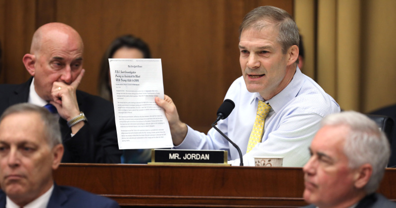 Jim Jordan Says AG Barr 'Serious' About Uncovering Origins of Russia Probe