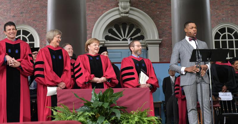 Merkel Attacks Trump in Harvard Speech