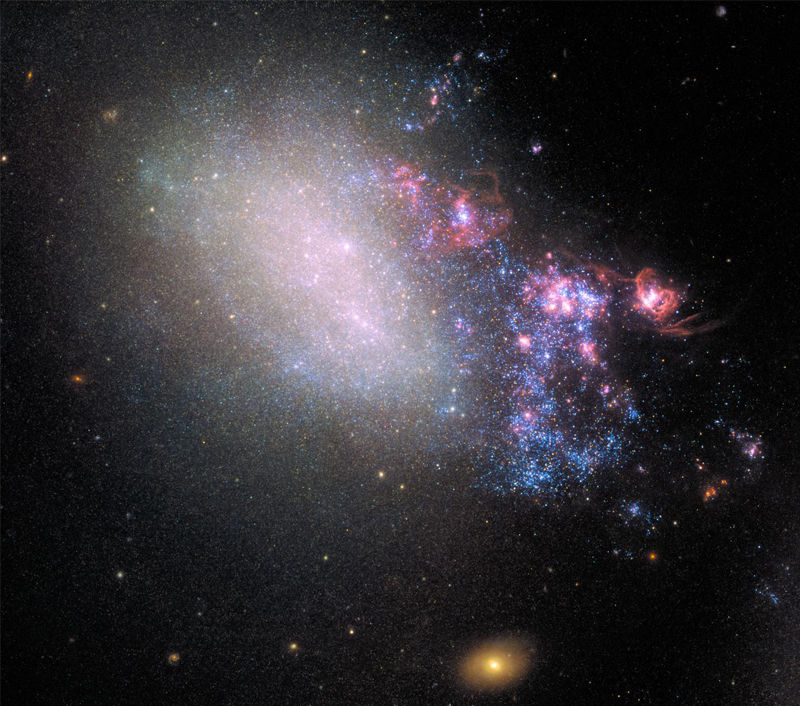 Galaxy Blazes With New Stars Born From Close Encounter