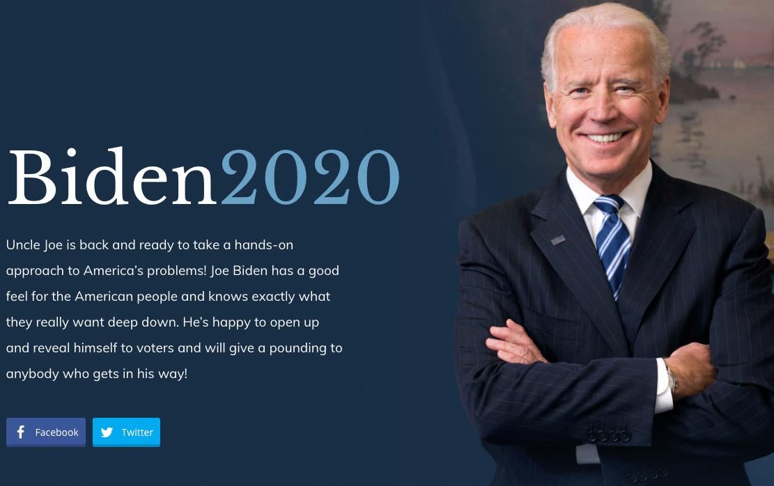 Joe Biden Parody Website Outranks Official Campaign Site on Google