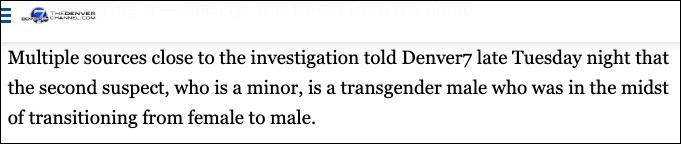 Report: STEM School Shooting Suspect Identified as Female to Male Transgender